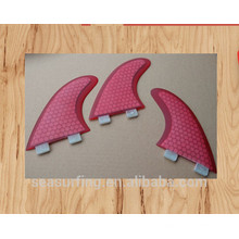 hex type model pink design G5 G7 FCS system surf fins wholesale